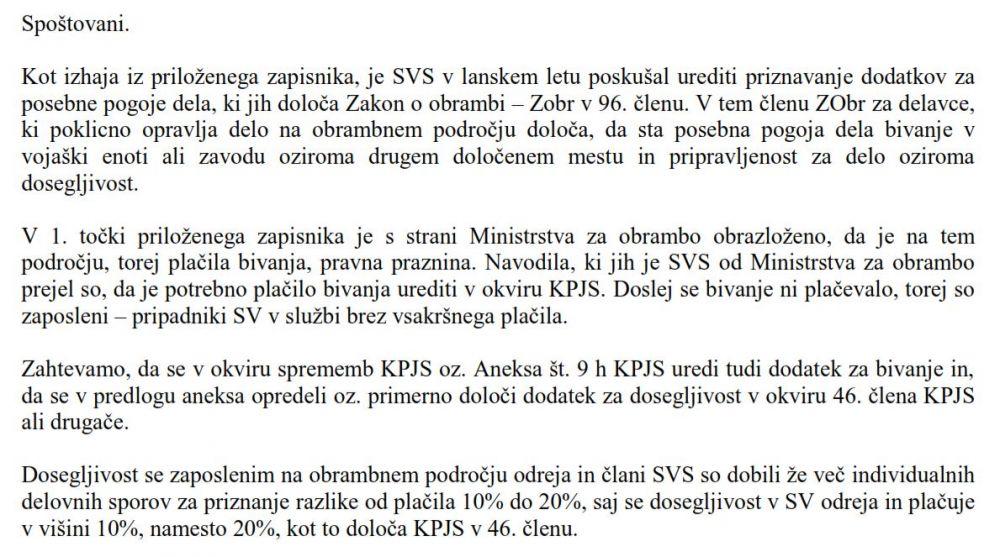 Zahteva SVS - MJU za ureditev plačila sodegljivosti in bivanja