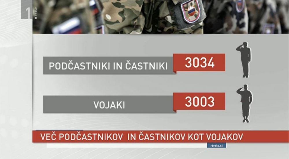 V SV je že več podčastnikov in častnikov od vojakov, v Natu je razmerje častnik, podčastnik, vojak enako 1, 2, 5