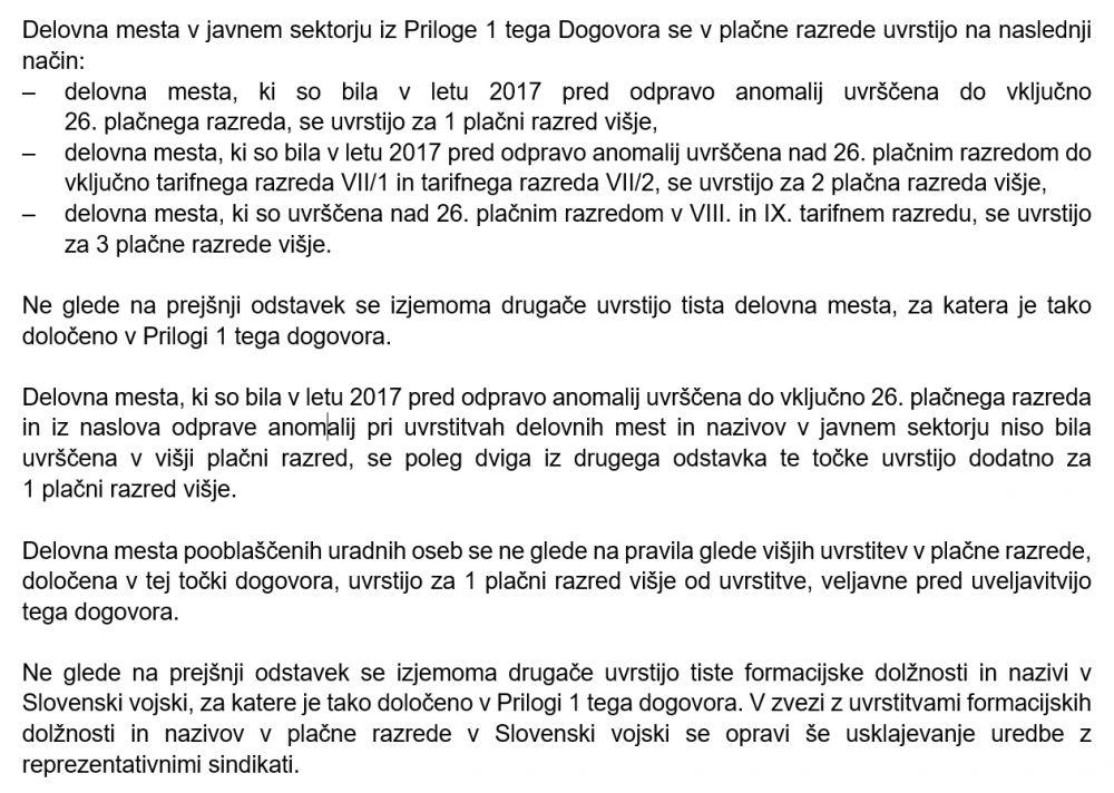Dvig plač iz stavkovnega sporazuma, posebej za Slovensko vojsko, kršeno zaradi neusklajevanja