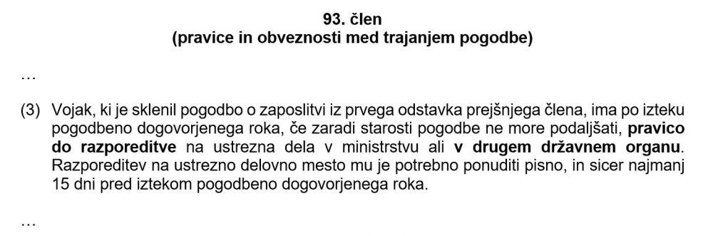 ZObr - 93. člen - pravica do razporeditve v drugem državnem organu